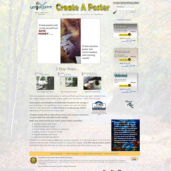 YottaPrint Home Page